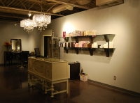 Reception desk of the hair salon in Birmingham, Michigan.